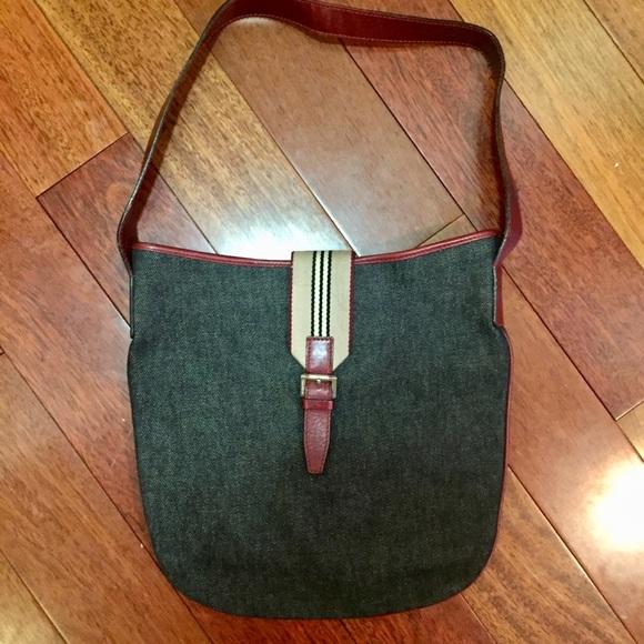 757c47fa2c3a Burberry Handbags - Burberry denim bag authentic